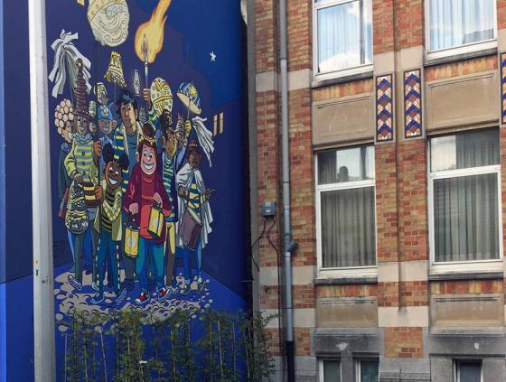 Une fresque Tamara embellit les rues de Laeken