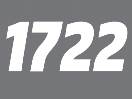 Le numéro 1722 est activé