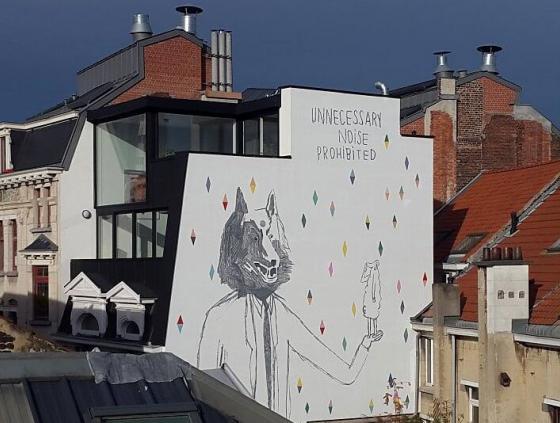 """Nouvelle fresque BD """"Le grand loup qui porte le mouton"""""""