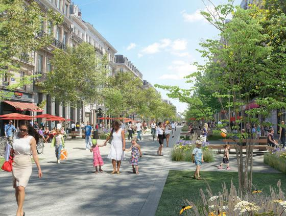 Travaux boulevard Anspach