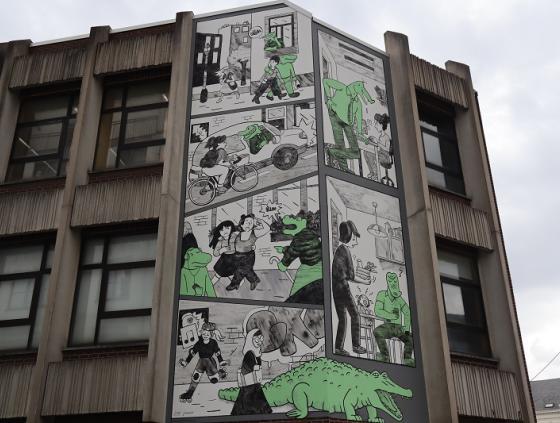 """Nouvelle fresque BD """"Crocodiles"""""""