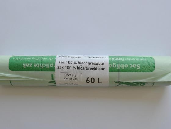 Obligation d'utiliser les sacs verts biodégradables de Bruxelles-Propreté