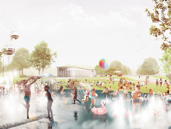Nouveau parc des sports au Heysel