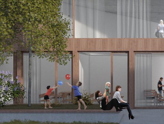 Une nouvelle école et des logements passifs dans la rue de la Senne