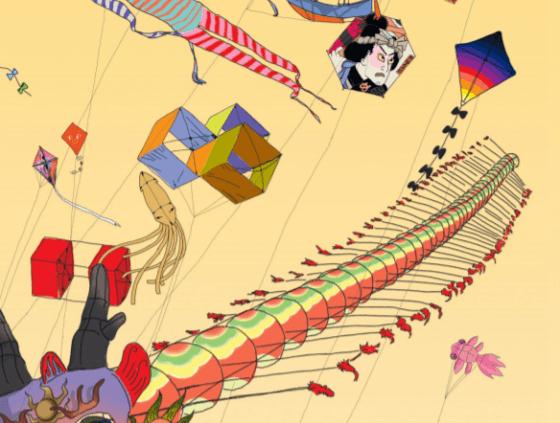 Des kites survolent les Quais