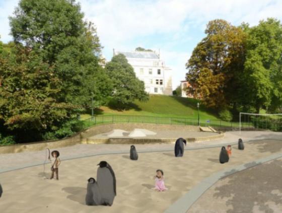 Réaménagement du parc Léopold