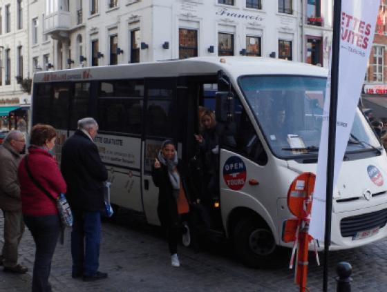 Des navettes gratuites entre la Foire du Livre, la Gare du Nord et la Place Sainte-Catherine
