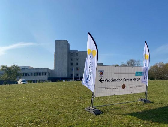 Ouverture du centre de vaccination Neder-Over-Heembeek