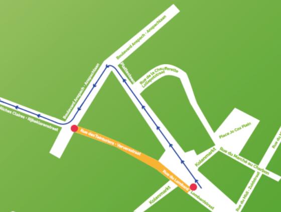 Travaux rue des Teinturiers et rue du Marché au Charbon