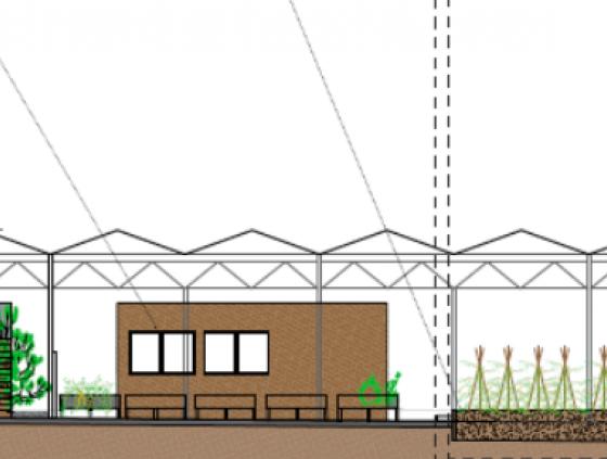 Une nouvelle serre pour l'agriculture urbaine à Bockstael