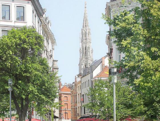 Travaux de réparation boulevard Anspach