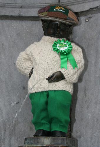Manneken-Pis aux couleurs de la Saint-Patrick