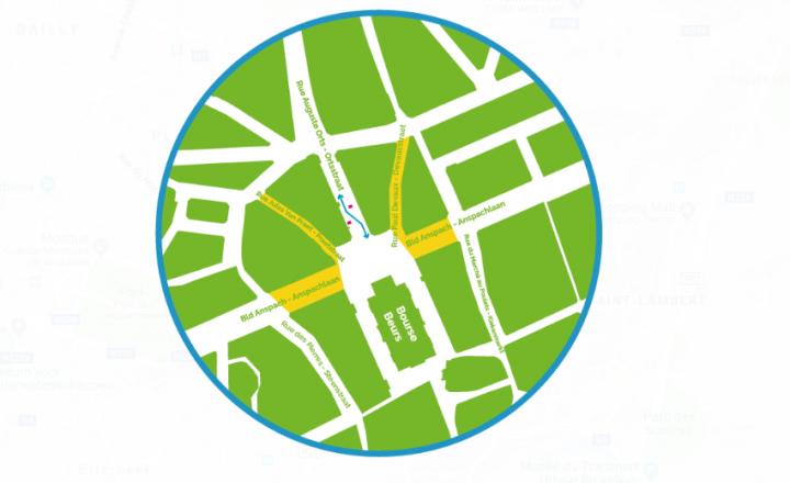 Travaux boulevard Anspach, rue Jules Van Praet et rue Paul Devaux