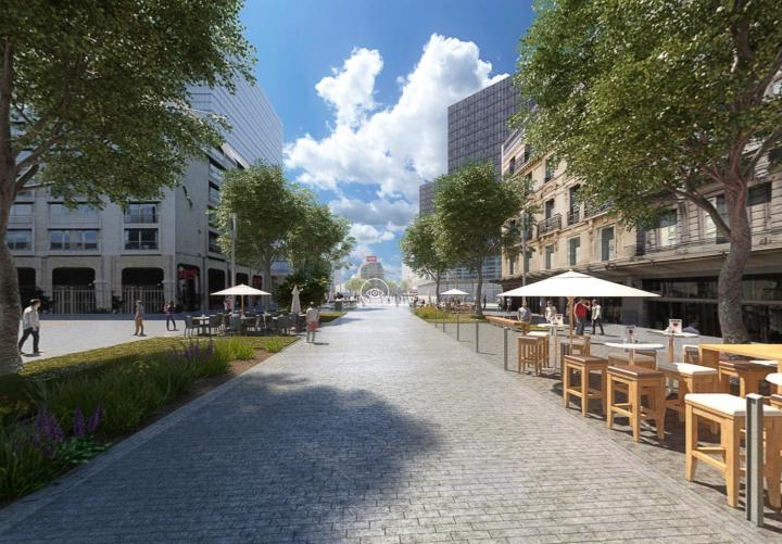 Futur centre-ville en réalité virtuelle