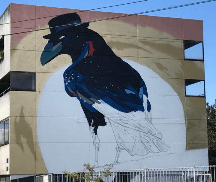 Fresque 'street art' de Sozy-One
