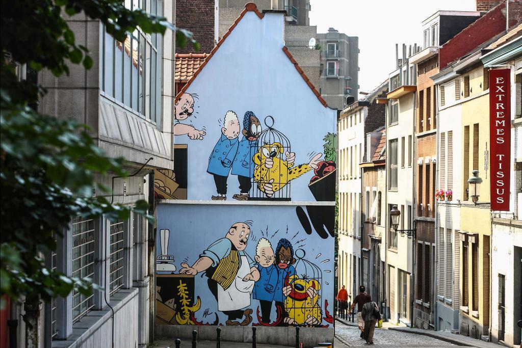 Blondin et cirage (Jijé) - Rue des Capucins