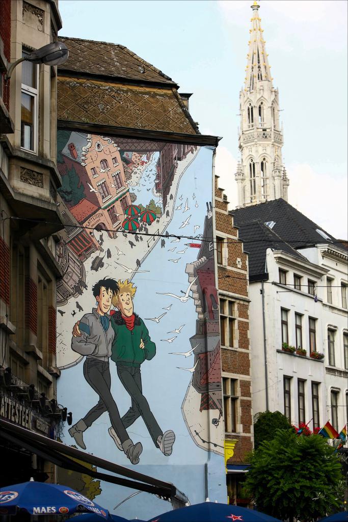 Broussaille (Frank Pé) - Rue du Marché au Charbon