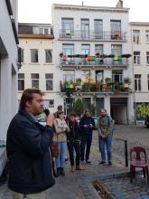 Drink d'ouverture de l'antenne de quartier Contrat de Quartier Les Marolles - cliquez pour agrandir