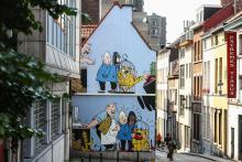 Blondin et cirage (Jijé) - Rue des Capucins - cliquez pour agrandir