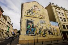 Lucky Luke (Morris) - Rue de la Buanderie - cliquez pour agrandir
