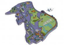 Carte du quartier de Laeken - cliquez pour agrandir
