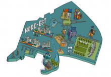 Carte du quartier Nord-Est - cliquez pour agrandir