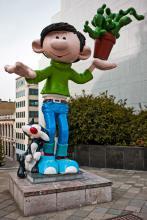 Statue Gaston Lagaffe (Franquin) - Boulevard Pacheco - cliquez pour agrandir